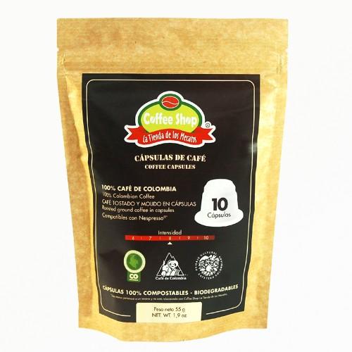 Capasulas con CAFÉ ESPECIAL Coffee Shop La Tienda de los Mecatos X 150 GRS